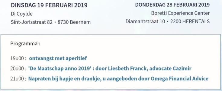 Uitnodiging Omegafin Informeert Maatschap